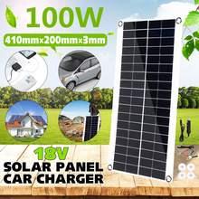 100W przenośny Panel słoneczny podwójny USB Power Bank Board bateria zewnętrzna ładowarka samochodowa Solar Cell Board 410X200mm tanie tanio KINCO CN (pochodzenie) NONE panel solarny 410 x 200 x 3 mm Portable Solar Panel other