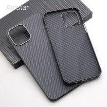 Amstar real fibra de carbono caso de telefone para iphone 12 / 12 pro/12 pro max/12 mini ultra-fino anti-queda de fibra de carbono capa dura