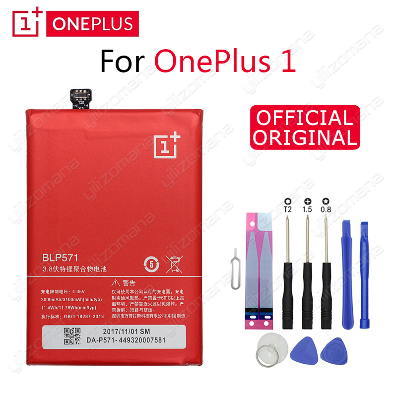 ONE PLUS Original Phone Battery BLP571 3000/3100mAh For OnePlus 1 A0001 High Quality Replacement Li-ion Batteries Free Tools