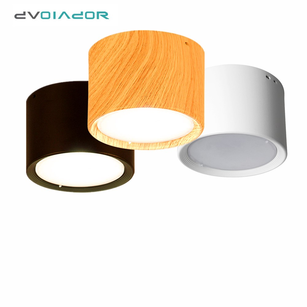 Modern Ceiling Lamp 5W 12W Wooden Ceiling Lights Surface Mounted Led Light Lamp For Kitchen Living Room Light Fixtures