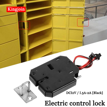 DC 12V 2A Solenoid Electromagnetic Electric Control Cabinet Drawer Lockers Lock latch Push-push Design dc 12v 2a small solenoid electromagnetic electric control cabinet drawer lockers lock pudsh push design automatic open the door