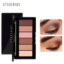 STAGENIUS Waterproof 6 Colors Shadow Palette Eyeshadow Makeup Natural Matte Professional Make Up Cosmetic LongLasting