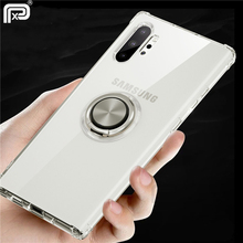 For Samsung Galaxy Note 10 Plus Case Transparent Ejectable Ring Soft Silicone Airbag Case For Note10 Plus 10+ 5G S10 Plus S10e