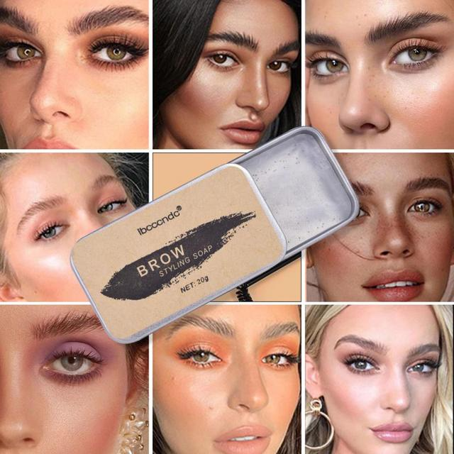 3D Feathery Brows Makeup Balm Styling Brows Soap Kit Lasting Eyebrow Setting Gel Waterproof Eyebrow Tint Pomade Cosmetics TSLM1 2