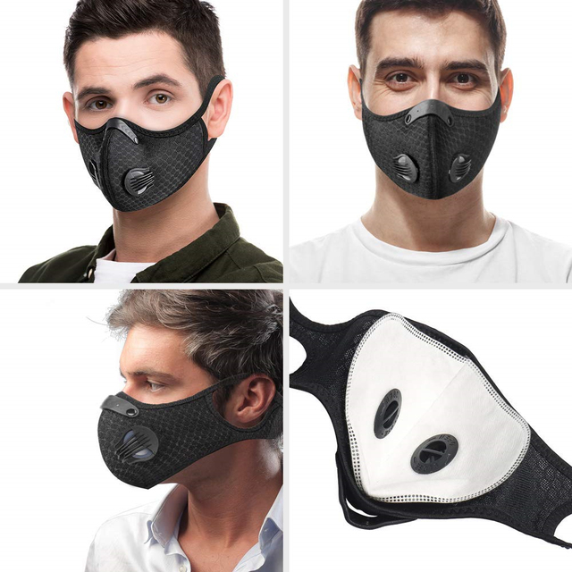 Breathable Cycling Masks Activated Carbon Anti-Pollution Mask Outdoor Sports Road Dustproof MTB Bike Face Cover Shield Mask 4