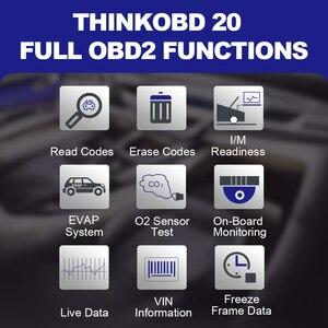 Image 4 - THINKOBD 20 Scanner de voiture, outil de Diagnostic automatique, lecteur de Code, voyant de vérification du moteur, recherche DTC, flux de données en direct, durée de vie gratuite