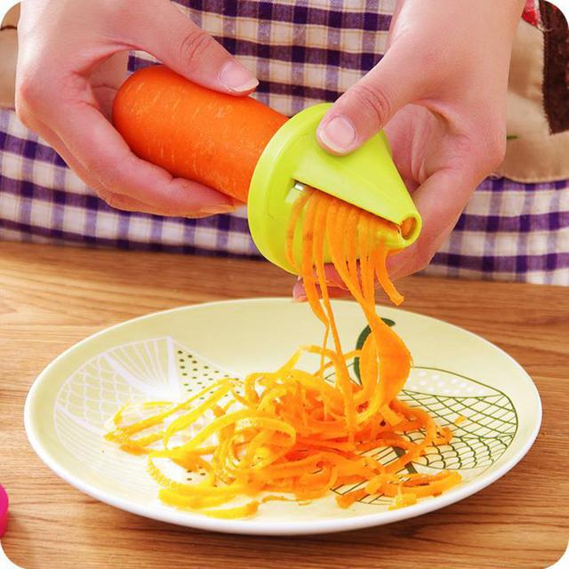 Vegetable Slicer Shred Device Spiral Carrot Radish Cutter Grater Cooking Tool Kitchen Tool Gadget Funnel Model