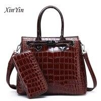 New elegant shoulder bag female luxury women designer handbags high quality brand leather handbag purse wallet set crossbody bag