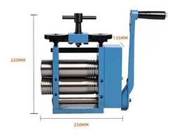 Jewelry Rolling Mill Tablet Machine Jewelry Tool and Equipment Diy BLUE Rolling Mill ( 4 ROLLERS ), Hand Operated