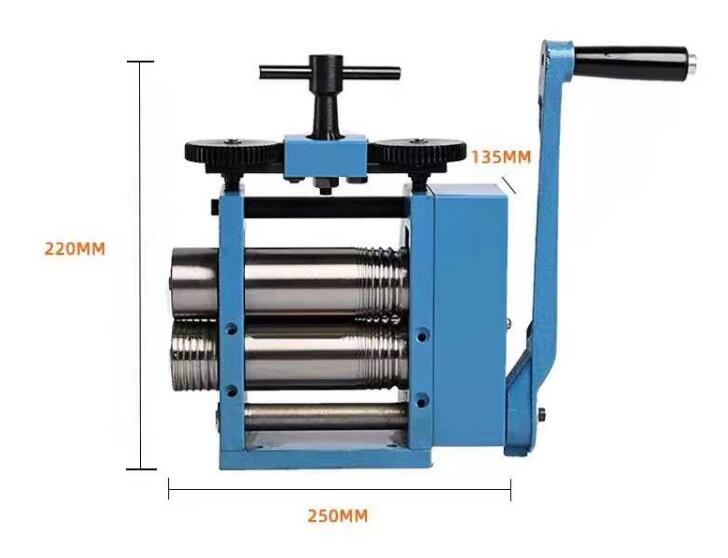 Jewelry Rolling Mill Tablet Machine Jewelry Tool And Equipment Newest BLUE Rolling Mill ( 4 ROLLERS ), Hand Operated