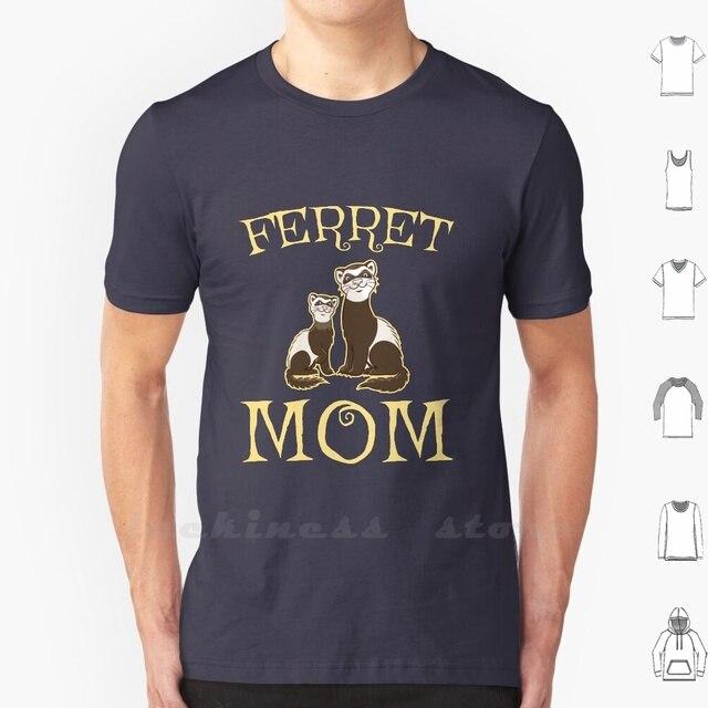 Śmieszne słodkie fretka mama T Shirt bawełna słodkie fretka fretka kochanka skórzane etui norek Prairie pies Mustelidae Panda fretka fretka