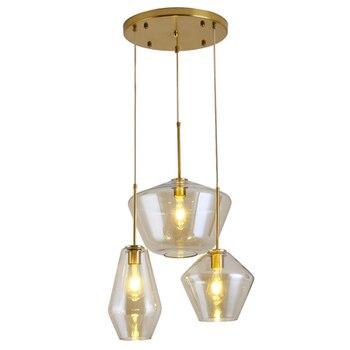 Nordic Modern loft hanging Glass Pendant Lamps Fixtures E26 LED Pendant lights for Kitchen Restaurant Bar living room bedroom