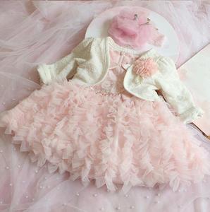 Vestido de niña bebé recién nacida, encaje de cuentas rosas, vestido de bautizo, vestido de bebé, vestidos de princesa para fiesta de desfile de cumpleaños