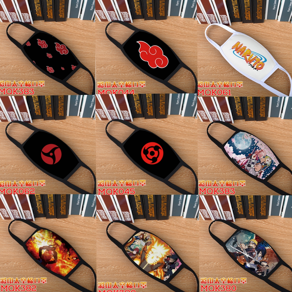 Anime Naruto Uchiha Itachi Cosplay Masks Dustproof Cotton Mouth Mask Cover Cartoon Respirator Face Mask For Adult Kids