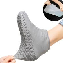 1 paar Reusable Silikon Schuh Abdeckung S/M/L Wasserdicht Regen Schuhe Abdeckungen Outdoor Camping Slip-beständig gummi Regen Boot Überschuhe