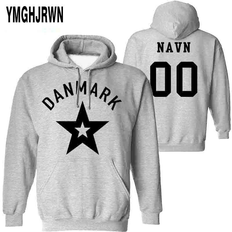 DENMARK Male Pullover Custom Made Name Number Dnk Sweatshirt Nation Flag Danish Kingdom Country Danmark Dk Casual Boy Clothes