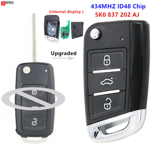 Keyecu Upgraded Remote Key 5K0 837 202 AJ for Volkswagen Caddy/Polo/Transporter/Beetle/Jetta/Touran/Golf 6/Tiguan/Eos/Sharan/UP