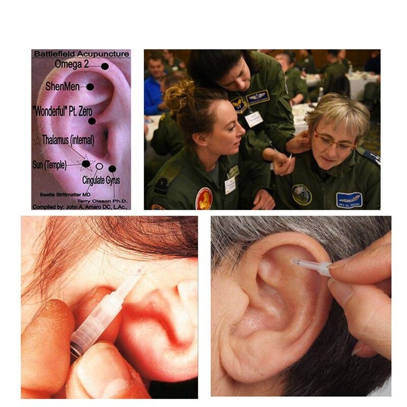 100 шт./кор. иглы иглоукалывания уха стерильные ушной раковины Acupunture серьги иглы акупунктурные точки для одноразового использования