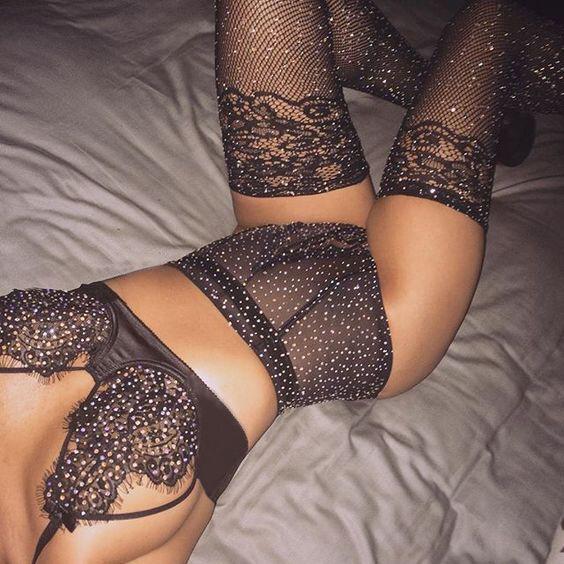 2020 New Women's Sexy Lingerie Baby Doll Pajamas Lingerie Diamond Lace Black Exotic Sets 2pcs