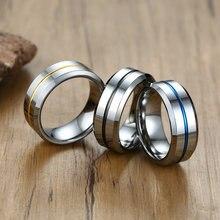 Стильные кольца из карбида вольфрама 8 мм для мужчин стильные