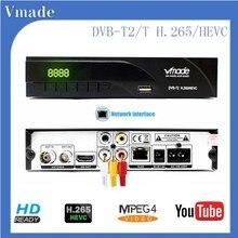 Vmade جديد DVB T2 K6 HD 1080P H.265 الرقمية الأرضية استقبال المدمج في RJ45 القياسية فك التشفير دعم يوتيوب M3U فك