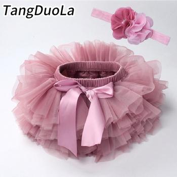 Tutu spódniczka dla dziewczynki zestaw dla niemowląt opaska na głowę z kwiatkiem spódniczka z siatkową pokrywą na pieluchę tanie i dobre opinie TANGDUOLA Na co dzień CN (pochodzenie) Kobiet W wieku 0-6m 7-12m 13-24m 25-36m 3-6y COTTON Poliester Koronki cotton mesh