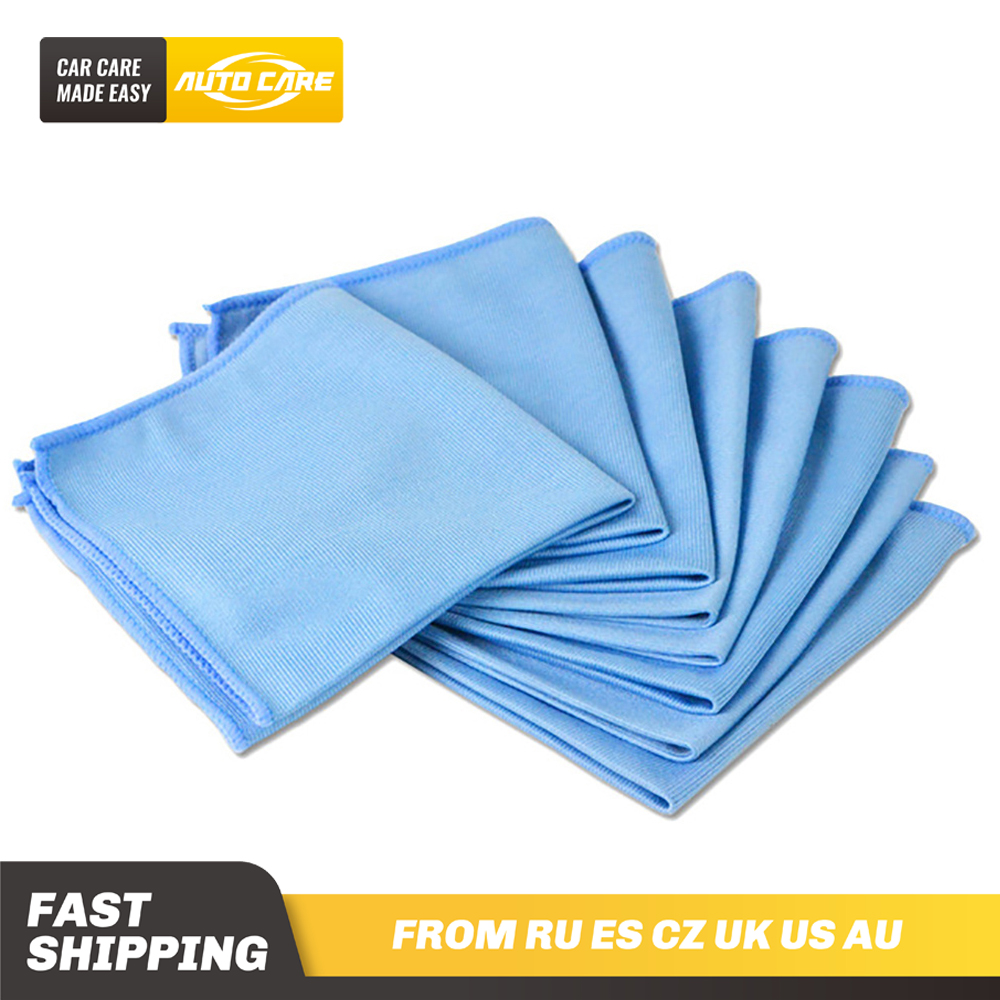 8-Pack Car Microfiber Glass Cleaning Towels Stainless Steel Polishing Shine Cloth Window Windshield Cloth 12