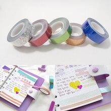 5rolls/комплект Multi-цвет Васи ленты скрапбукинг декоративные клейкие ленты канцелярские наклейки бумаги