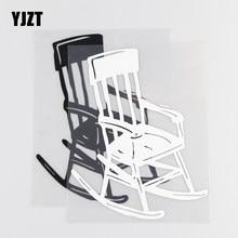 YJZT 11.9×15CM Vintage Chair Fun Vinyl Decal Creative Car Sticker Black/Silver 20D-0025