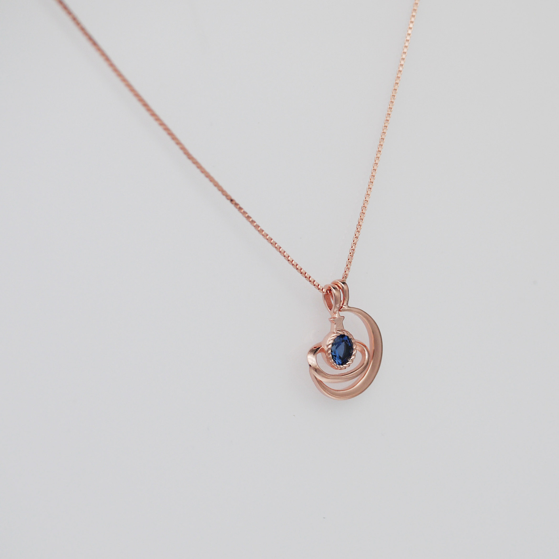 Jewelry European and American Red Book Celebrity Inspired S925 Sterling Silver Star Moon Universe Clavicle Chain Necklace