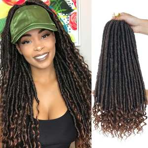 Curly Crochet Hair-Extensions Braiding-Hair Soft Dreadlocks Faux Locs Goddess Pre-Stretched