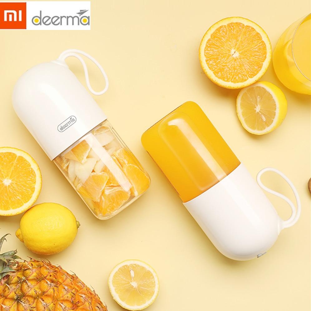 Xiaomi Deerma Portable Electric Juicer Blender Multipurpose Wireless Mini USB Rechargable 300ml Juice Cup Cut Mixer For Travel