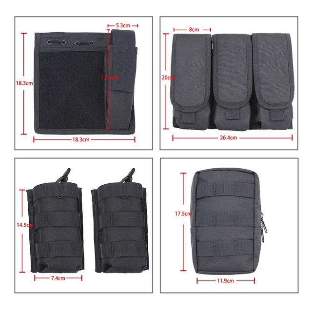 MGFLASHFORCE Molle Airsoft Vest Tactical Vest Plate Carrier Swat Fishing Hunting Vest Military Army Armor Police Vest 5