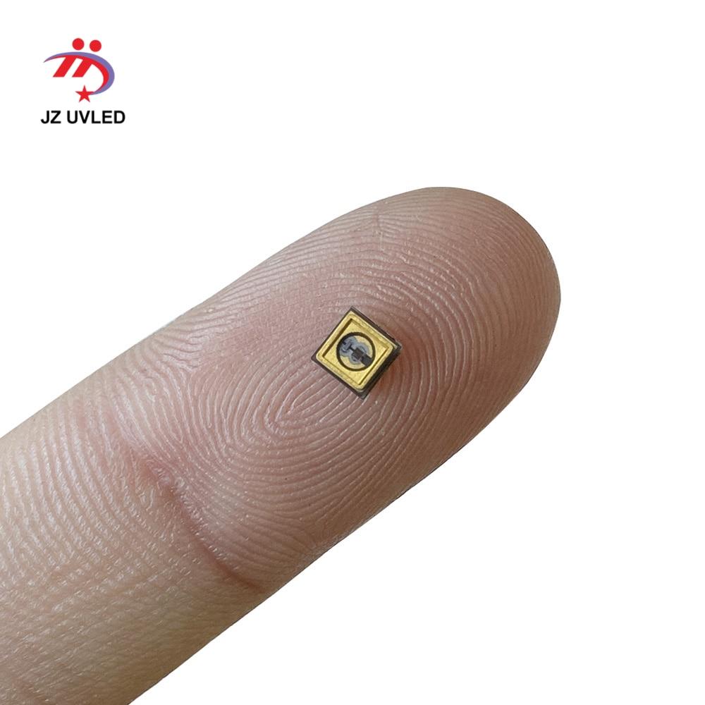 Lámpara LED UVC de 275nm para equipos de desinfección UV 265nm 285nm SMD 3535 chip LED luz ultravioleta profunda 6V100mA Cuentas de lámpara LED UVC de 1W y 265nm para equipo médico para desinfección UV de 275nm SMD4545, Chip ultravioleta profundo LG de 5-9V, 150mA de Corea
