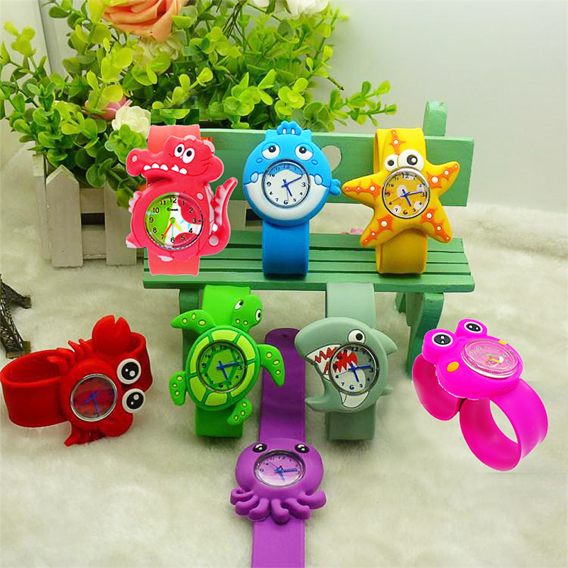 New Aquatic Shark Octopus Baby Toys Children Watch Kids Digital Watches Boys Girls Birthday Gift Electronic Clock Child Watch