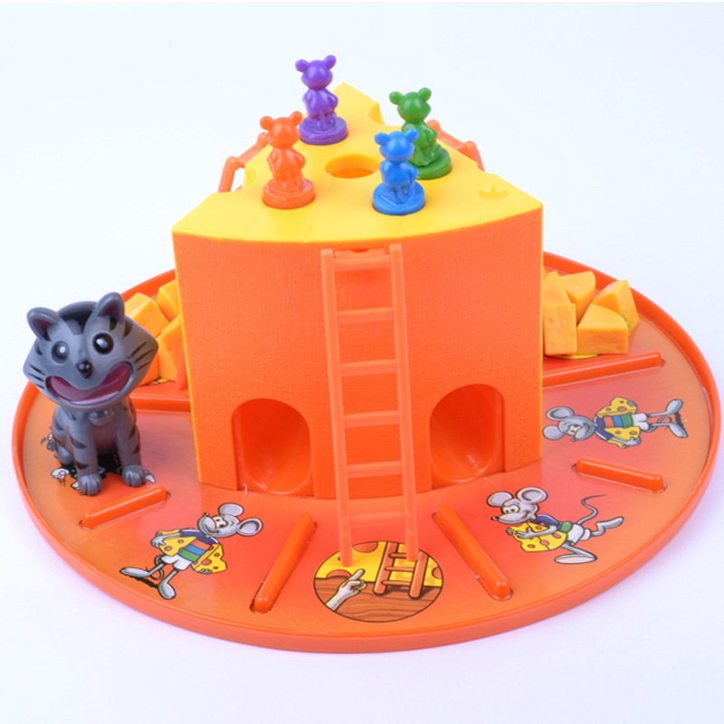 Hot Sales Cat And Mouse Game Cheese Cake Game Parent And Child Interactive Board Game Children'S Educational Toy