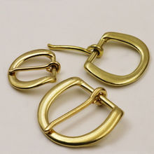 1 x Solid brass Heel bar buckle end belt half single pin for leather craft bag strap webbing clasps