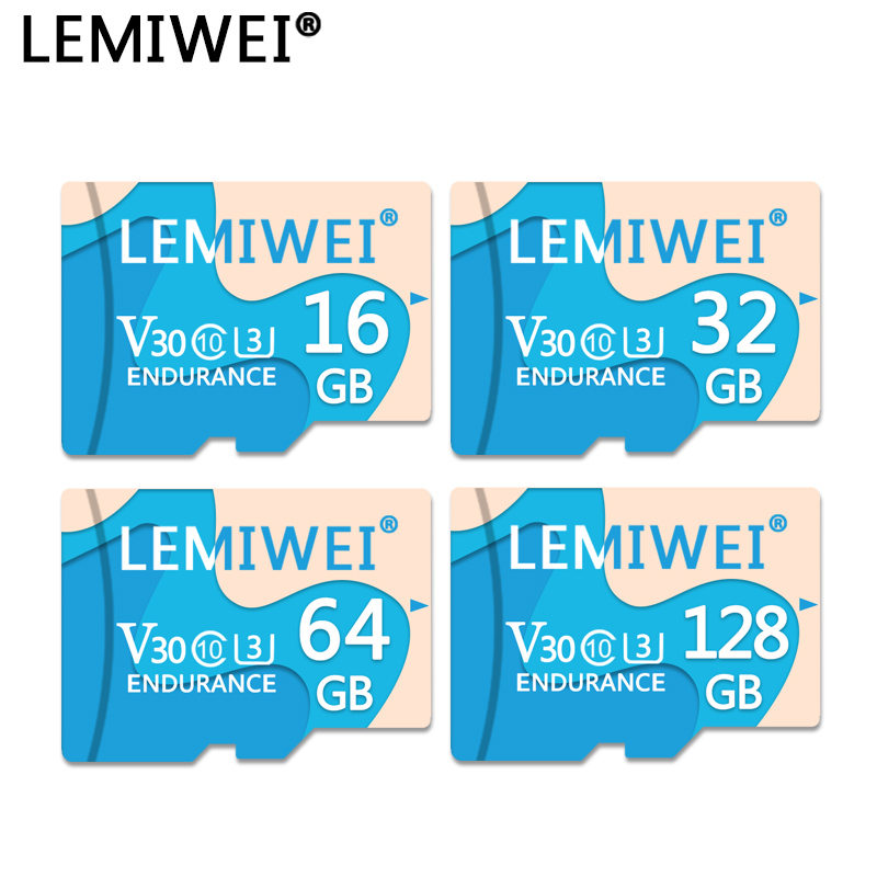 LEMIWEI Memory Card 128GB Milk Blue TF Flash Card 64GB 32GB 16GB High Speed Class 10 UHS-III Memory Card For Driving Recorder