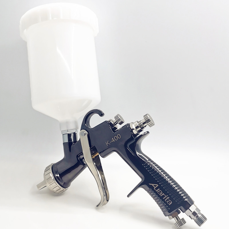 Tools : High quality Auarita K400 LVMP spray gun automobile sprayer 1 4 1 7 high atomization spray gun stainless steel nozzle Paint gun
