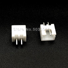 100 pçs/lote XH2.54 XH-2A 2P 2pin fio Conector XH 2.54 milímetros espaçamento 180 Cabeçalho pin ângulo reto PCB Carro