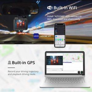 Image 4 - AZDOME GS63H araba çizgi kam 4K 2160P Dash kamera çift Lens dahili GPS DVR kaydedici Dashcam WiFi g sensor döngü kayıt