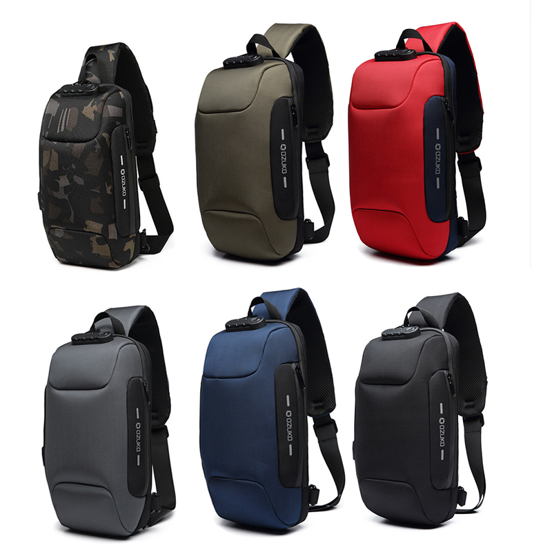 NEW OZUKO Waterproof Multifunction  Backpack For Men Anti-theft Shoulder Bags Male Waterproof Short Trip Crossbody Bag