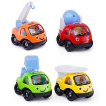 Kids Car Model Toys Cartoon Excavator Engineering Vehicle Car Pull Back Model Educational Toys For Kids 6pcs lot multicolor plastic cartoon mini pull back boy car model toys set educational toy for children car toys