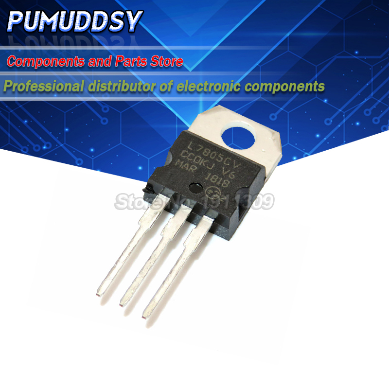 10pcs//lot L7805CV L7805 7805 LM7805 KA7805 Voltage Regulator 5V TO-220 in Stock