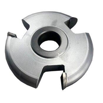 LIVTRER Carbide Tipped 3-Wing Heavy-Duty Flute (Convex) 1/4 R x 4 D x 1/2 CH x 1-1/4 Bore Shaper Cutter