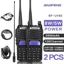 UV82 VHF UHF 송수신기 워키 토키 양방향 라디오 토키 워키 햄 라디오 Comunicador uv 82 Baofeng uv 82 워키 토키