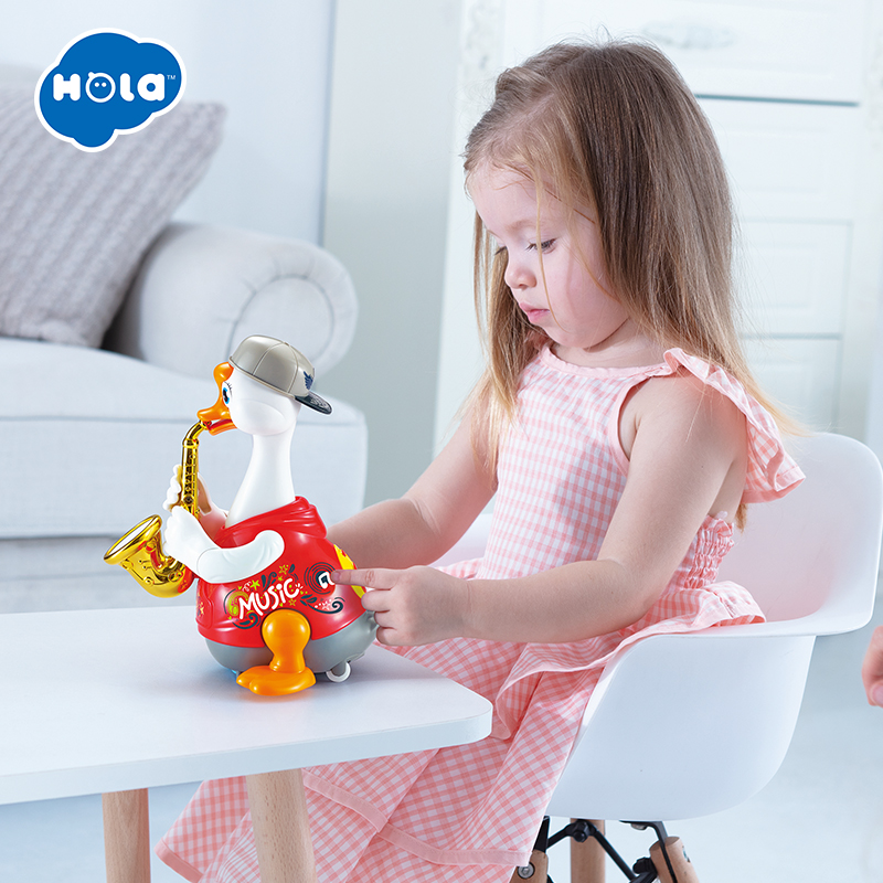 Early Education 18 Months + Olds Baby Hip Hop Swing Goose Duck Children Tumbler Animal Toys For Children & Kids Boys And Girls