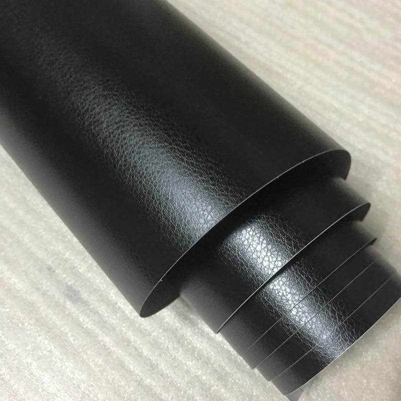 30x100cm Car Interior Black Sticker Grain Leather Skin Textured Vinyl Wrap Decor
