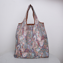 Bohemian Style Foldable handbags storage bags green  shopping bag Tote polyester Folding pouch 2019 new