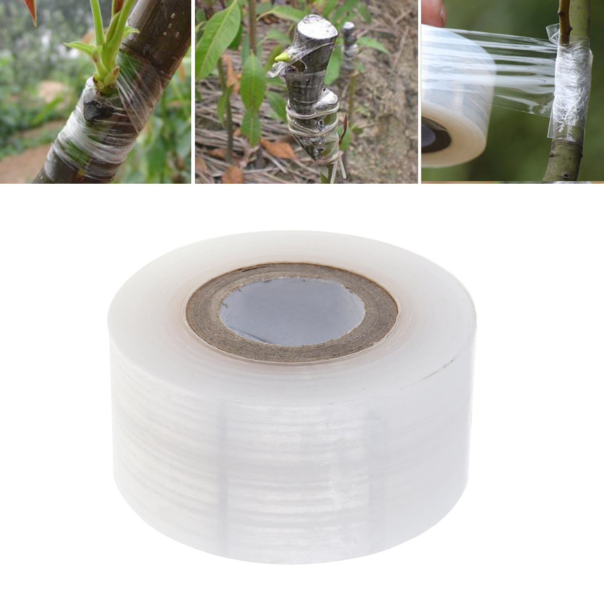 3CM Transparent Stretchable Grafting Tape Gardening Tape Fruit Tree Grafting Tool Bind Tape Grafting Tool Kit For Grafting